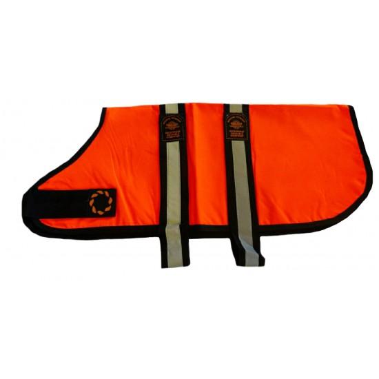 DJW22OR 22 inch Orange Unlined Hi-Vis Dog Coat