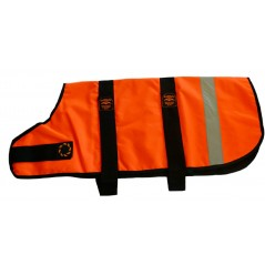 DJW28OR 28 inch Orange Unlined Hi-Vis Dog Coat