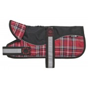 "Z1812 Reflective Black/RedTartan Padded Harness Coat 8"" (20cm)"
