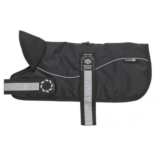 "Reflective Black/Black Padded Harness Coat 8"" (20cm)"