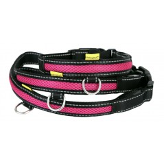 LED USB Mesh Collar Pink Large