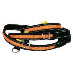 LED USB Mesh Collar Orange Med