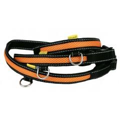 LED USB Mesh Collar Orange Large