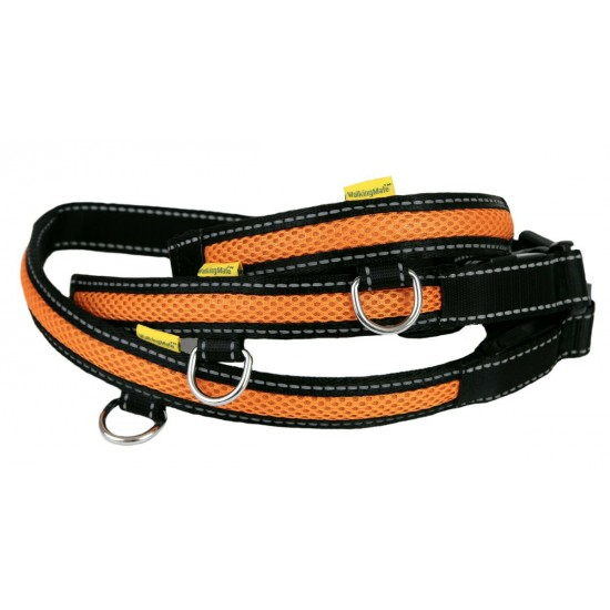 LED USB Mesh Collar Orange Small