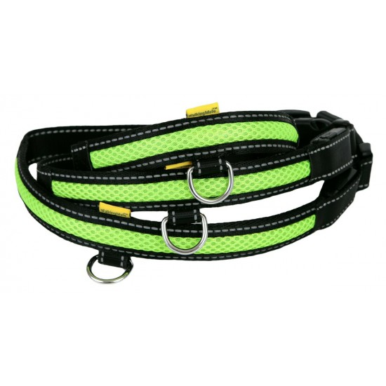 LED USB Mesh Collar Green Med