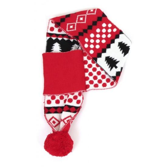 70105 A Red Christmas Snowflake Human Scarf