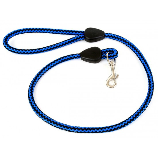 DP8130B/B 30 inch x 12mm Blue/Black Harlequin Lead with Trigger Hook