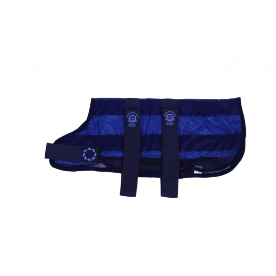 COOLB56 20 inch Cooling Dog Coat and Bag Navy LA