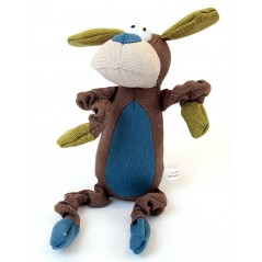 88231 Dog Brown Canvas Squeaky Toy