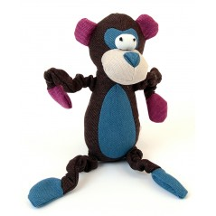 88232 Monkey Dark Brown Canvas Squeaky Toy