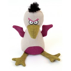 88240 Baby Eagle Cream Canvas Squeaky Toy