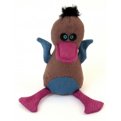 88241 Baby Eagle Brown Canvas Squeaky Toy