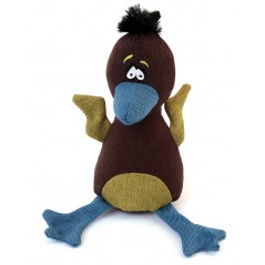 88242 Baby Eagle Dark Brown Canvas Squeaky Toy