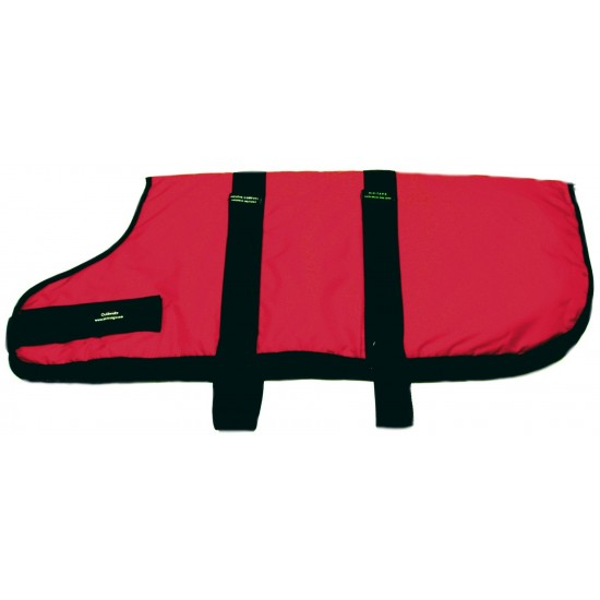 14012 An 32 inch Red Padded Nylon Dog Coat by Animate