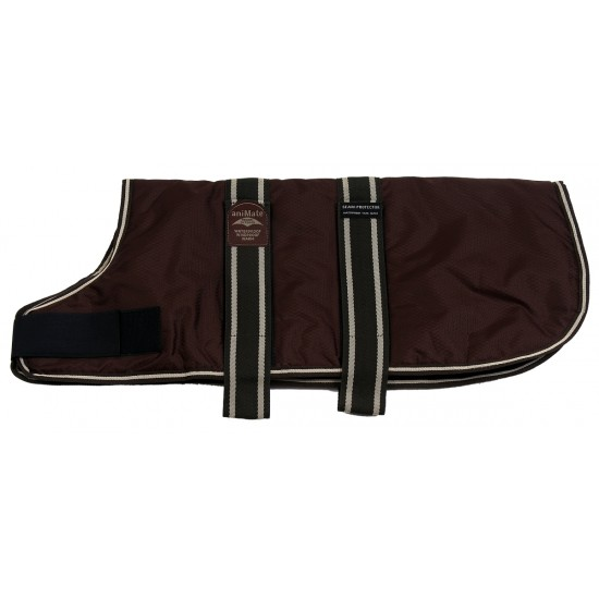 16931 An 30 inch Brown Padded Nylon Dog Coat by Animate