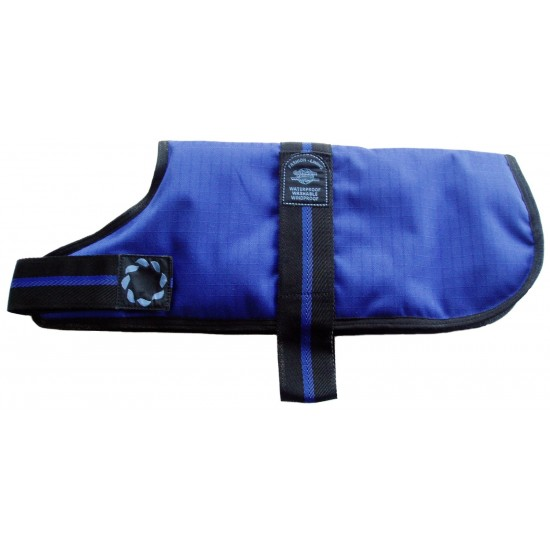 "DJD18B 18"" Blue Padded Fashion-Line Breathe-Comfort Dog coat with Padded Lining"