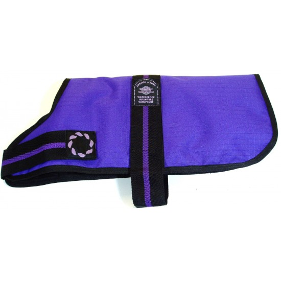 "DJD12P 12"" Purple Padded Fashion-Line Breathe-Comfort Dog coat with Padded Lining"