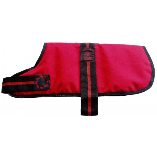 "DJD12R 12"" Red Padded Fashion-Line Breathe-Comfort Dog coat with Padded Lining"