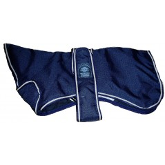 "DJW14GPB 14"" Navy Blue Greyhound Breathe-Comfort Dog Coat with Padded Lining and neck cover"