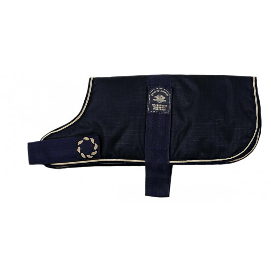 "DJW10PB 10"" Blue Breathe-Comfort Dog coat with Padded Lining"