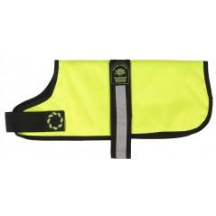 "DJW10PFY 10"" Flo' Yellow Breathe-Comfort Dog coat with Padded Lining"