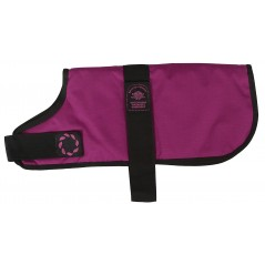 "DJW12PRa 12"" Raspberry Breathe-Comfort Dog coat with Padded Lining"