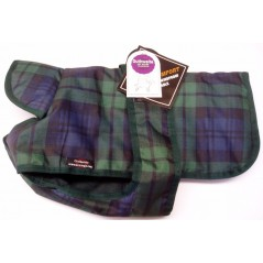 "DJW30PUT/B 30"" Blue Green Tartan Breathe-Comfort Polyester Coat with Underbelly and Padded Lining"