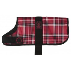 "DJW8TPR  8"" (20cm) Red Tartan Padded Breathe-Comfort Waterproof Coat"