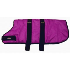"DJW28PRa 28"" Raspberry Breathe-Comfort Dog coat with Padded Lining"