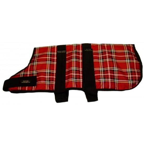 "DJW22TPR 22"" (56cm) Red Tartan Padded Breathe-Comfort Waterproof Coat"