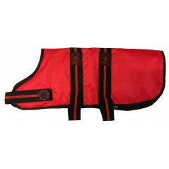 "DJD24R 24"" Red Padded Fashion-Line Breathe-Comfort Dog coat with Padded Lining"