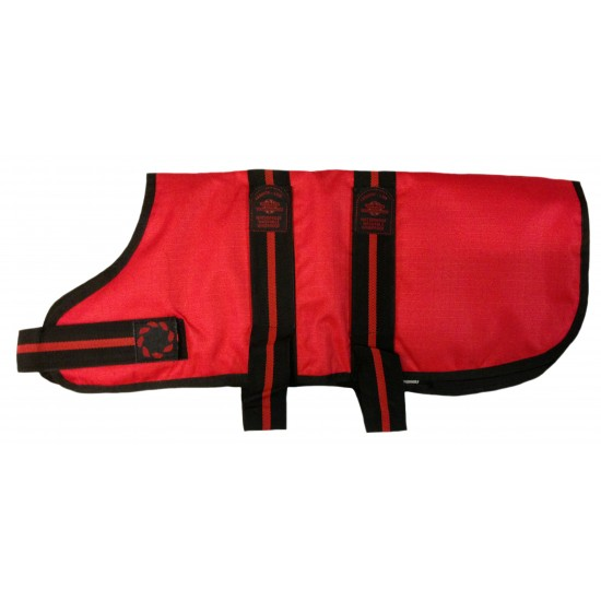 """DJD20R 20"""" Red Padded Fashion-Line Breathe-Comfort Dog coat with Padded Lining"""