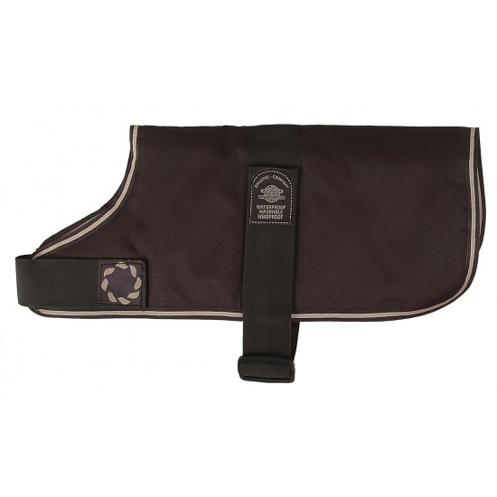 """66214 14"""" Brown Padded Dog Coat with Adj strap (For larger Dogs)"""