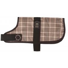 "66308 8"" Brown Check Padded Dog Coat"