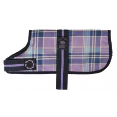 "DJW18CPL 18"" Lilac Tartan Padded Dog Coat"