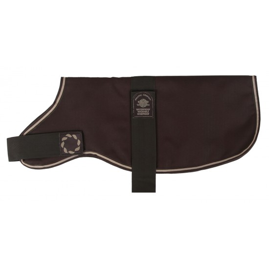 DAC15 15 inch Padded Brown Dachsund Dog Coat