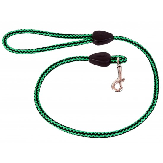 DP6150G/B 40 inch x 9mm Green/Black Harlequin Lead with Trigger Hook