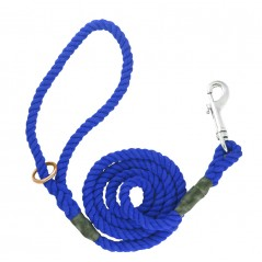 DC6151Bl 8mm x 39 inch Blue Gun Dog Lead with Trigger Hook