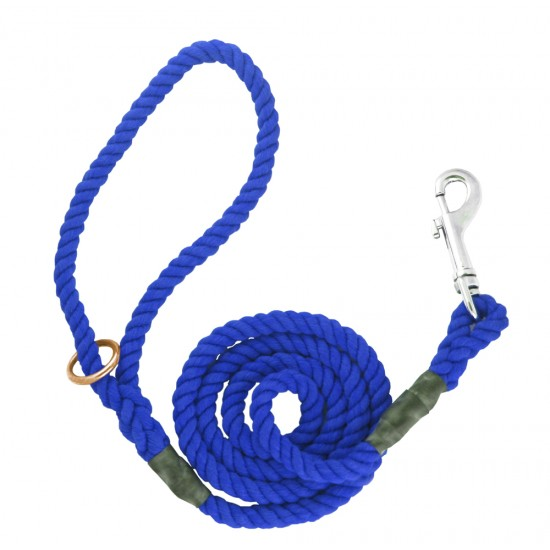 DC6161Bl 8mm x 48 inch Blue Gun Dog Lead with Trigger Hook