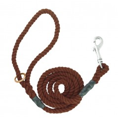 DC6151Br 8mm x 39 inch Brown Gun Dog Lead with Trigger Hook