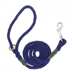 DC6151N 8mm x 39 inch Navy Gun Dog Lead with Trigger Hook