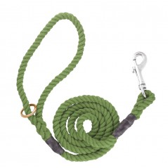 DC6161O 8mm x 48 inch Olive Gun Dog Lead with Trigger Hook
