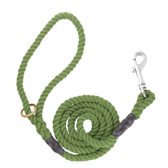 DC6151O 8mm x 39 inch Olive Gun Dog Lead with Trigger Hook