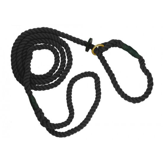 DC6380B 8mm x 60 inch Black Gun Dog Slip Lead