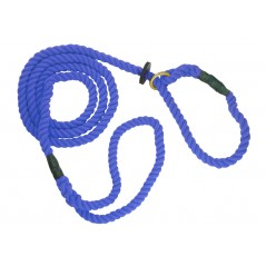 DC6390Bl 8mm x 72 inch Blue Gun Dog Slip Lead