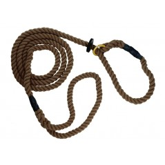 DC6380BR 8mm x 60 inch Brown Gun Dog Slip Lead