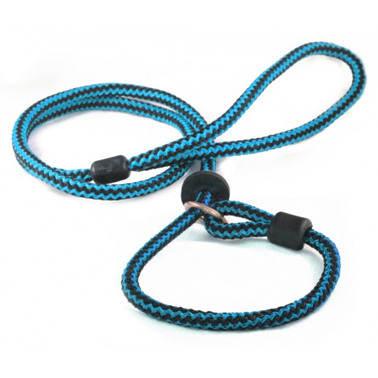 DP2360B/B 46 inch x 4mm Blue/Black Harlequin Slip Lead