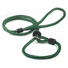 DP8360G/B 46 inch x 12mm Green/Black Harlequin Lead with Slip Lead