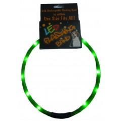 30841 70cm Flashing LED Band Green - Cut to size