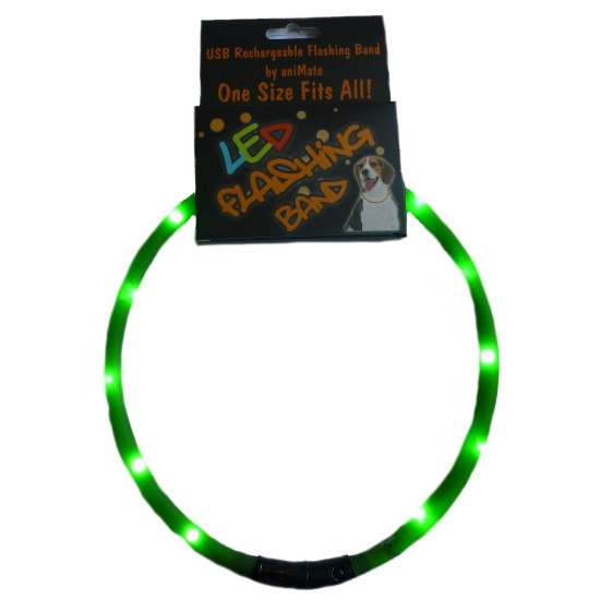 30841 70cm Flashing LED Band Green - Cut to size